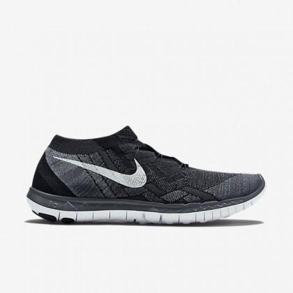 Herren Nike Free 3.0 Flyknit Schwarz/Fluoreszierend Grün/Dunkel Grau/Weiß Sneaker