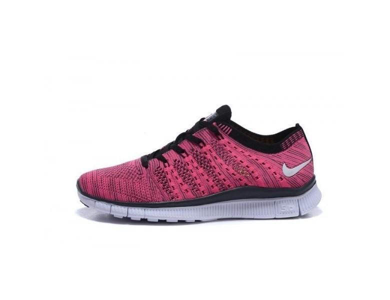 2018 rabatt Damen Nike Free Flyknit Nsw Rose RotSchwarz