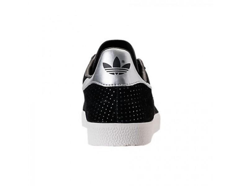 Damen Adidas Gazelle Schuhe By9363 Kern SchwarzWeißSilber