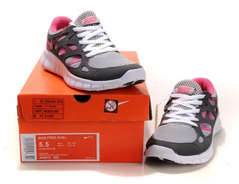 Berlin sale Nike Free Run 2 Dunkel Grau Pfirsich Rot Damen
